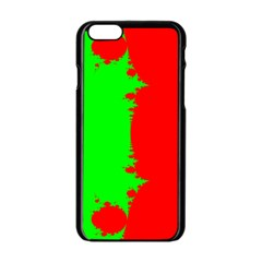Critical Points Line Circle Red Green Apple iPhone 6/6S Black Enamel Case