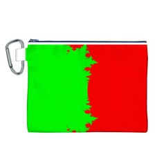 Critical Points Line Circle Red Green Canvas Cosmetic Bag (L)