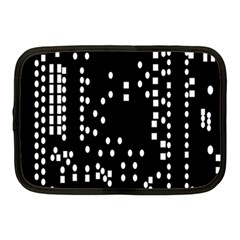 Circle Plaid Black White Netbook Case (Medium)