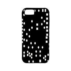 Circle Plaid Black White Apple iPhone 5 Classic Hardshell Case (PC+Silicone)