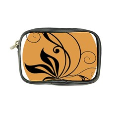 Black Brown Floral Symbol Coin Purse
