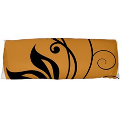 Black Brown Floral Symbol Body Pillow Case (Dakimakura)