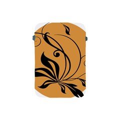 Black Brown Floral Symbol Apple iPad Mini Protective Soft Cases