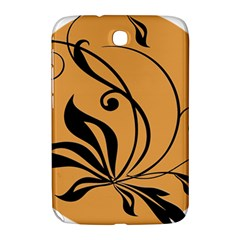 Black Brown Floral Symbol Samsung Galaxy Note 8.0 N5100 Hardshell Case