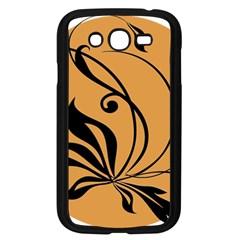 Black Brown Floral Symbol Samsung Galaxy Grand DUOS I9082 Case (Black)
