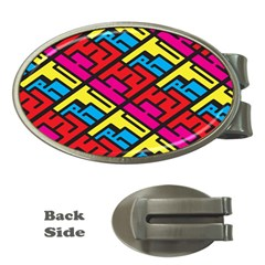 Color Red Yellow Blue Graffiti Money Clips (Oval)