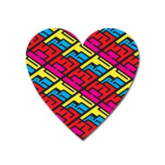 Color Red Yellow Blue Graffiti Heart Magnet