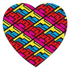 Color Red Yellow Blue Graffiti Jigsaw Puzzle (Heart)