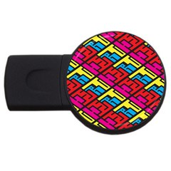 Color Red Yellow Blue Graffiti USB Flash Drive Round (4 GB)