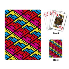 Color Red Yellow Blue Graffiti Playing Card