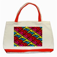Color Red Yellow Blue Graffiti Classic Tote Bag (red)