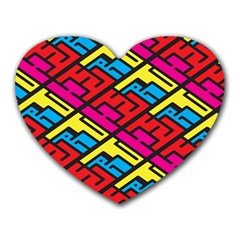 Color Red Yellow Blue Graffiti Heart Mousepads