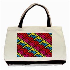 Color Red Yellow Blue Graffiti Basic Tote Bag (Two Sides)