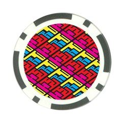 Color Red Yellow Blue Graffiti Poker Chip Card Guard