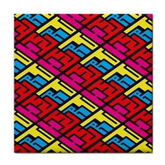 Color Red Yellow Blue Graffiti Face Towel