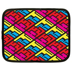 Color Red Yellow Blue Graffiti Netbook Case (XXL)