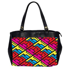 Color Red Yellow Blue Graffiti Office Handbags (2 Sides)
