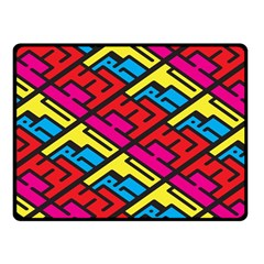 Color Red Yellow Blue Graffiti Fleece Blanket (Small)