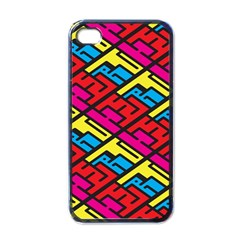Color Red Yellow Blue Graffiti Apple iPhone 4 Case (Black)