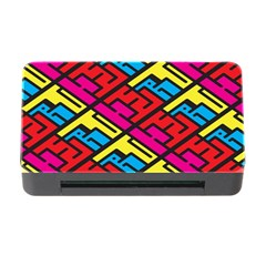 Color Red Yellow Blue Graffiti Memory Card Reader with CF