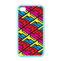 Color Red Yellow Blue Graffiti Apple iPhone 4 Case (Color)
