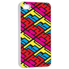Color Red Yellow Blue Graffiti Apple iPhone 4/4s Seamless Case (White)