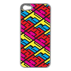 Color Red Yellow Blue Graffiti Apple iPhone 5 Case (Silver)