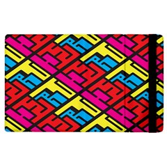 Color Red Yellow Blue Graffiti Apple iPad 3/4 Flip Case