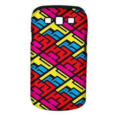 Color Red Yellow Blue Graffiti Samsung Galaxy S III Classic Hardshell Case (PC+Silicone)