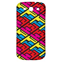 Color Red Yellow Blue Graffiti Samsung Galaxy S3 S III Classic Hardshell Back Case