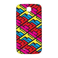 Color Red Yellow Blue Graffiti Samsung Galaxy S4 I9500/I9505  Hardshell Back Case