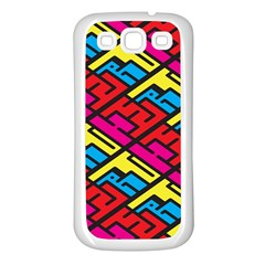 Color Red Yellow Blue Graffiti Samsung Galaxy S3 Back Case (White)
