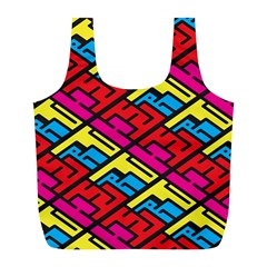 Color Red Yellow Blue Graffiti Full Print Recycle Bags (L)