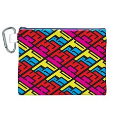 Color Red Yellow Blue Graffiti Canvas Cosmetic Bag (XL)