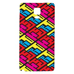 Color Red Yellow Blue Graffiti Galaxy Note 4 Back Case
