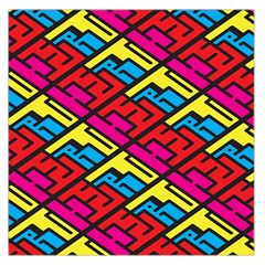 Color Red Yellow Blue Graffiti Large Satin Scarf (Square)