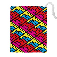Color Red Yellow Blue Graffiti Drawstring Pouches (XXL)