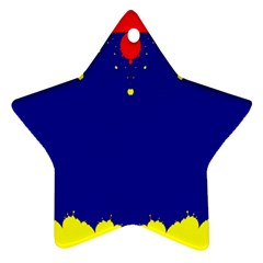 Critical Points Line Circle Red Blue Yellow Ornament (Star)