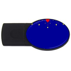 Critical Points Line Circle Red Blue Yellow USB Flash Drive Oval (1 GB)