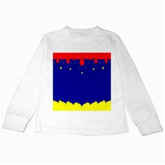 Critical Points Line Circle Red Blue Yellow Kids Long Sleeve T-Shirts