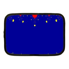 Critical Points Line Circle Red Blue Yellow Netbook Case (Medium)