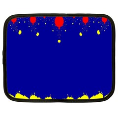 Critical Points Line Circle Red Blue Yellow Netbook Case (Large)