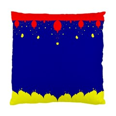 Critical Points Line Circle Red Blue Yellow Standard Cushion Case (Two Sides)