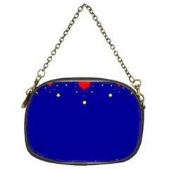 Critical Points Line Circle Red Blue Yellow Chain Purses (Two Sides)