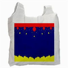 Critical Points Line Circle Red Blue Yellow Recycle Bag (Two Side)