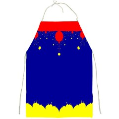 Critical Points Line Circle Red Blue Yellow Full Print Aprons