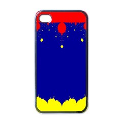 Critical Points Line Circle Red Blue Yellow Apple iPhone 4 Case (Black)