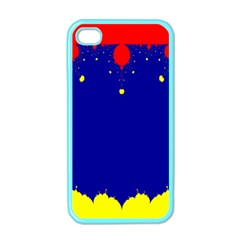 Critical Points Line Circle Red Blue Yellow Apple iPhone 4 Case (Color)