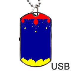 Critical Points Line Circle Red Blue Yellow Dog Tag USB Flash (One Side)