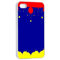 Critical Points Line Circle Red Blue Yellow Apple iPhone 4/4s Seamless Case (White)
